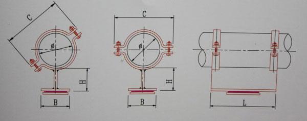 KA11-20~150卡箍型普通滑动管