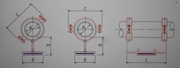 KH11-25~100隔热型滑动管托