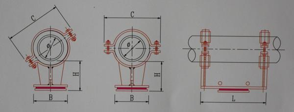 KH11-125~1000隔热型滑动管托