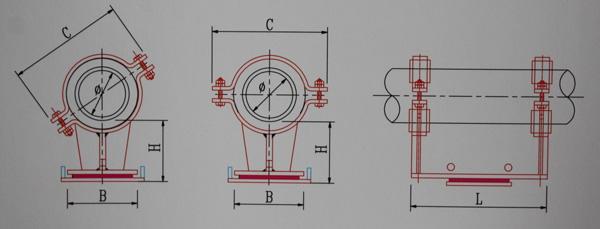 KH12-125~1000隔热型导向管托