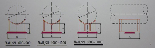 WA11-600~2000焊接型滑动管托