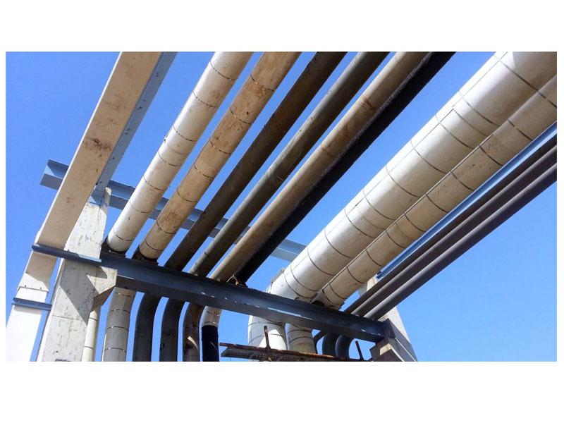 无机镁钢现场施工图
